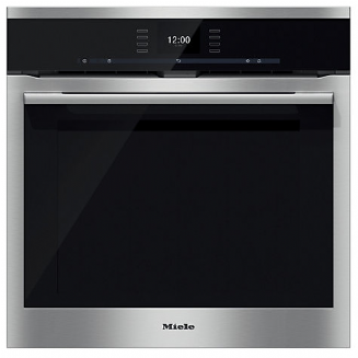 MIELE H6560BP ContourLine | CleanSteel Single Built In Electric Oven